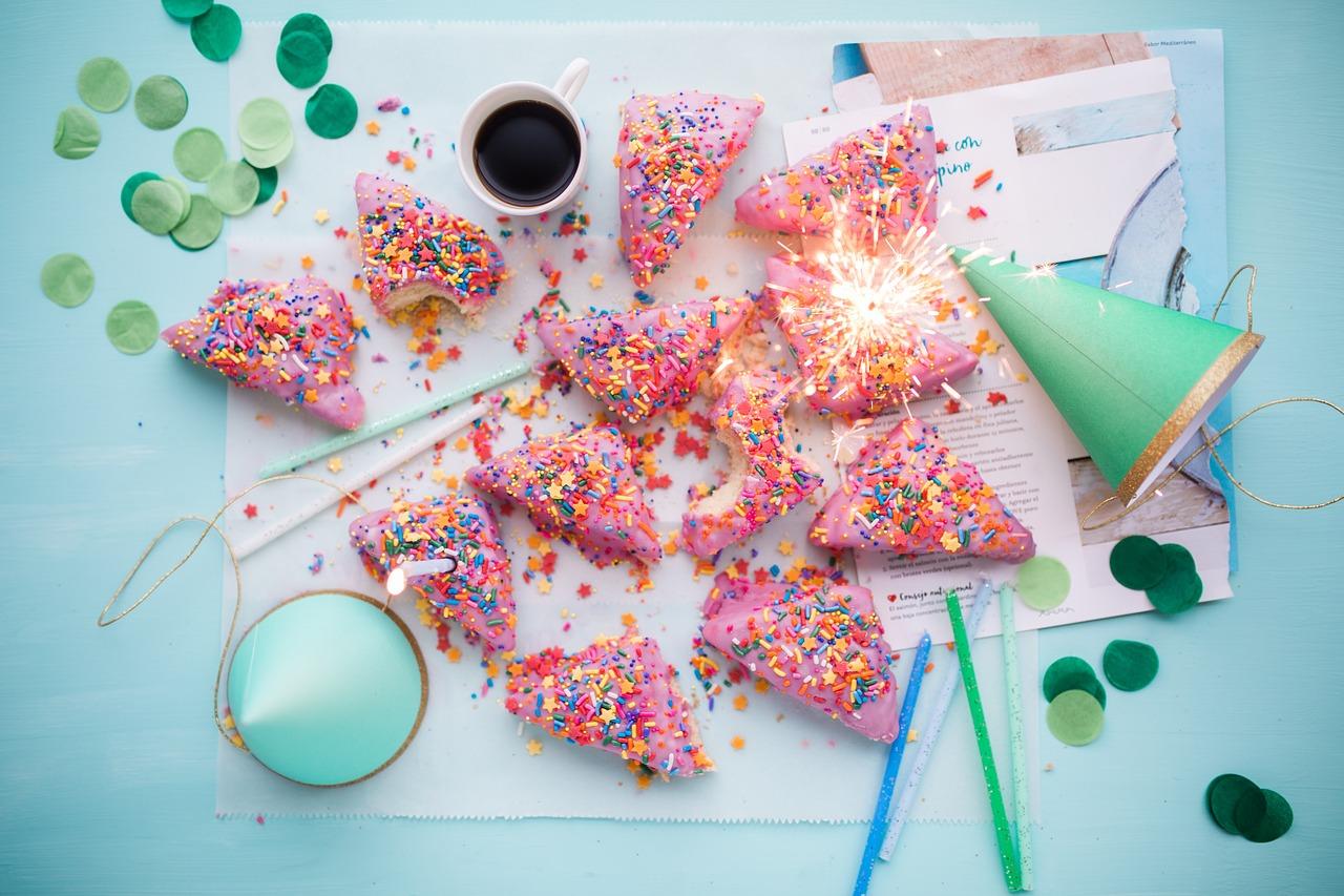 cakes, sprinkles, food